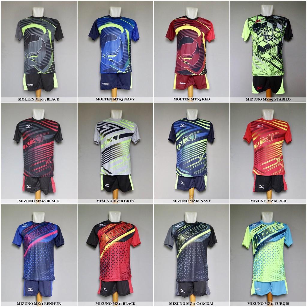 TERMURAH MIZUNO MZ10 Navy - Baju Kaos Celana Setelan Voli Volly Volley  Jersey Olahraga  ae99edaaa0