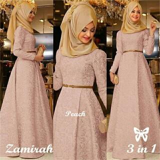 Murah Gamis Brukat Brokat Wisuda Kebaya Pesta Hijab Maxi Long Dress