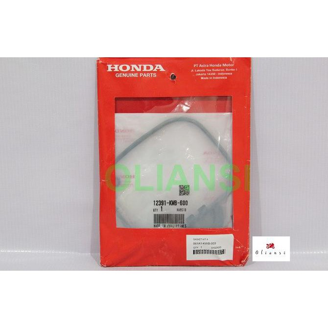Premium Paking Top Set Honda Blade Absolute Revo 061A1-Kwb-003 Kualitas Oke