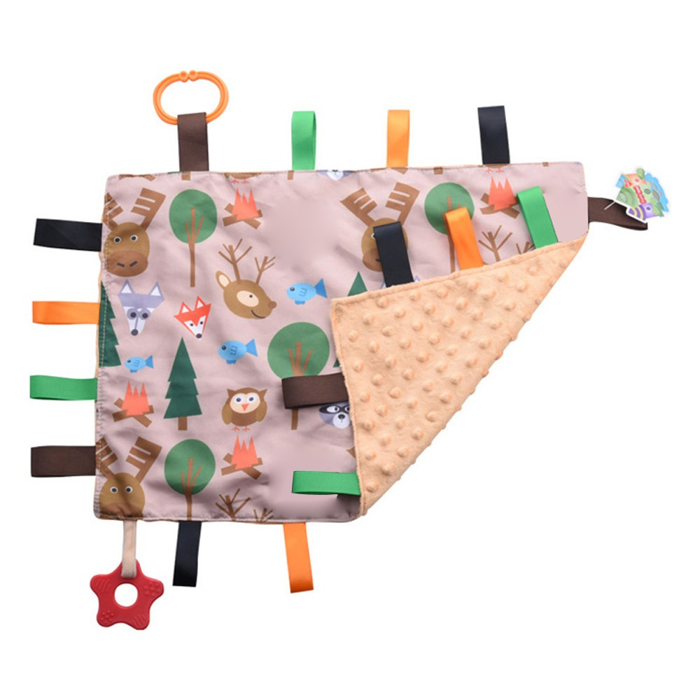 Cute Infant Baby Sleep Soothing Towel Security Blanket Hand Towel BB Sound Toys