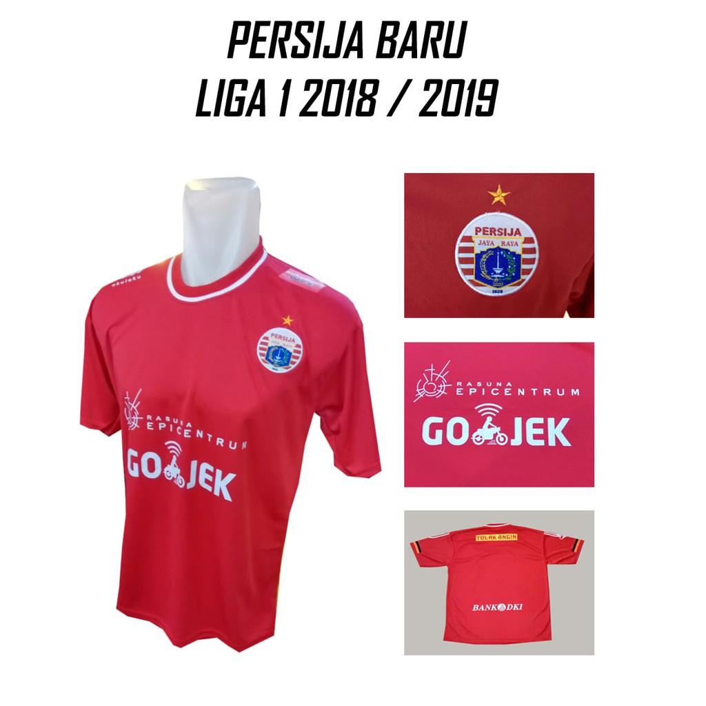 Jersey Lokal Persija Jakarta Home Merah Grade Liga Kaos Baju Bola Hitam Kiper Gojek M Shopee Indonesia