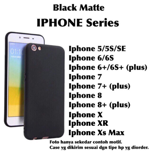 Slim Black Matte Case softcase silikon Iphone X 10 5 5s SE 6 6s 7 7 8 plus  XR XS max  5cef89752e