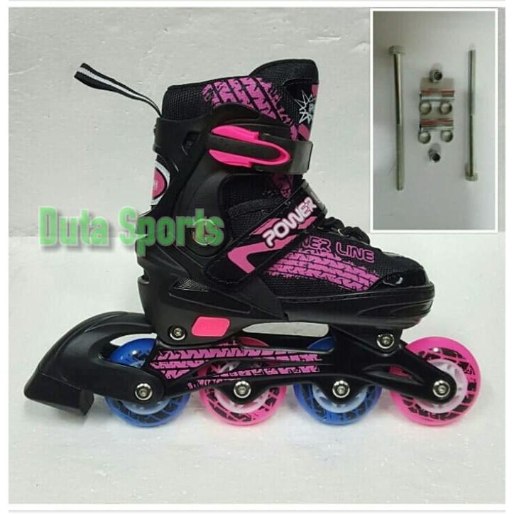 maian anak terlaris sepatu roda anak roda karet murah+baut bajaj powerline  5800 ( pink ) gratis  c880b02f71