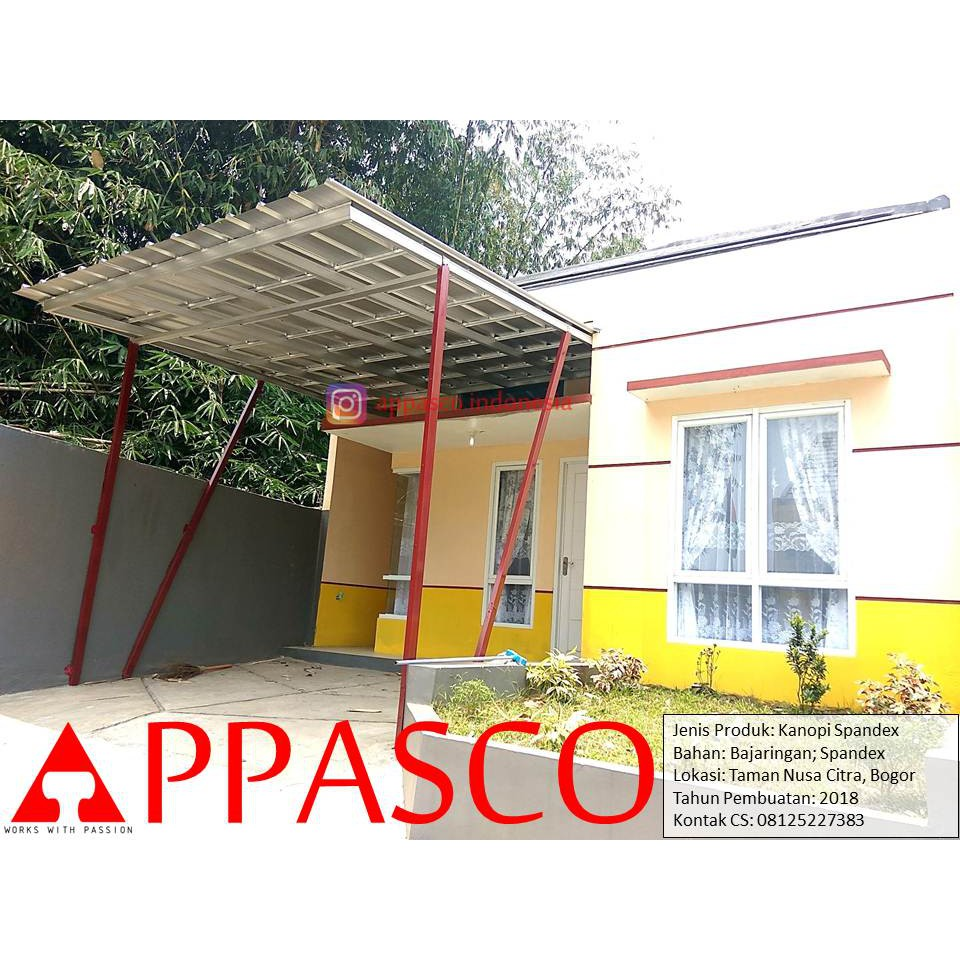 Kanopi Minimalis Atap Spandek Bajaringan Di Taman Nusa Citra Bogor