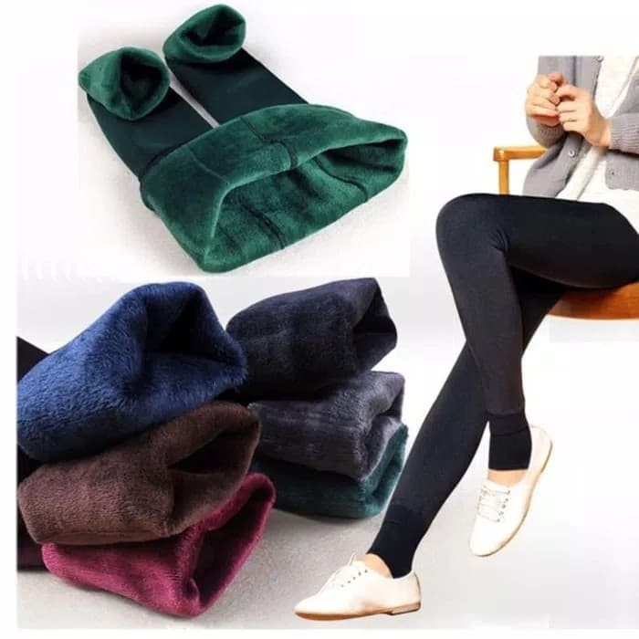 Celana Legging Thermal Winter Musim Dingin Perempuan 200gr Shopee Indonesia