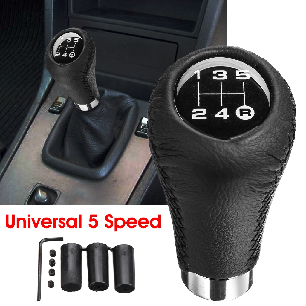 Universal 5 Speed Car Auto Gear Shift Knob with 3 Thread Adapters