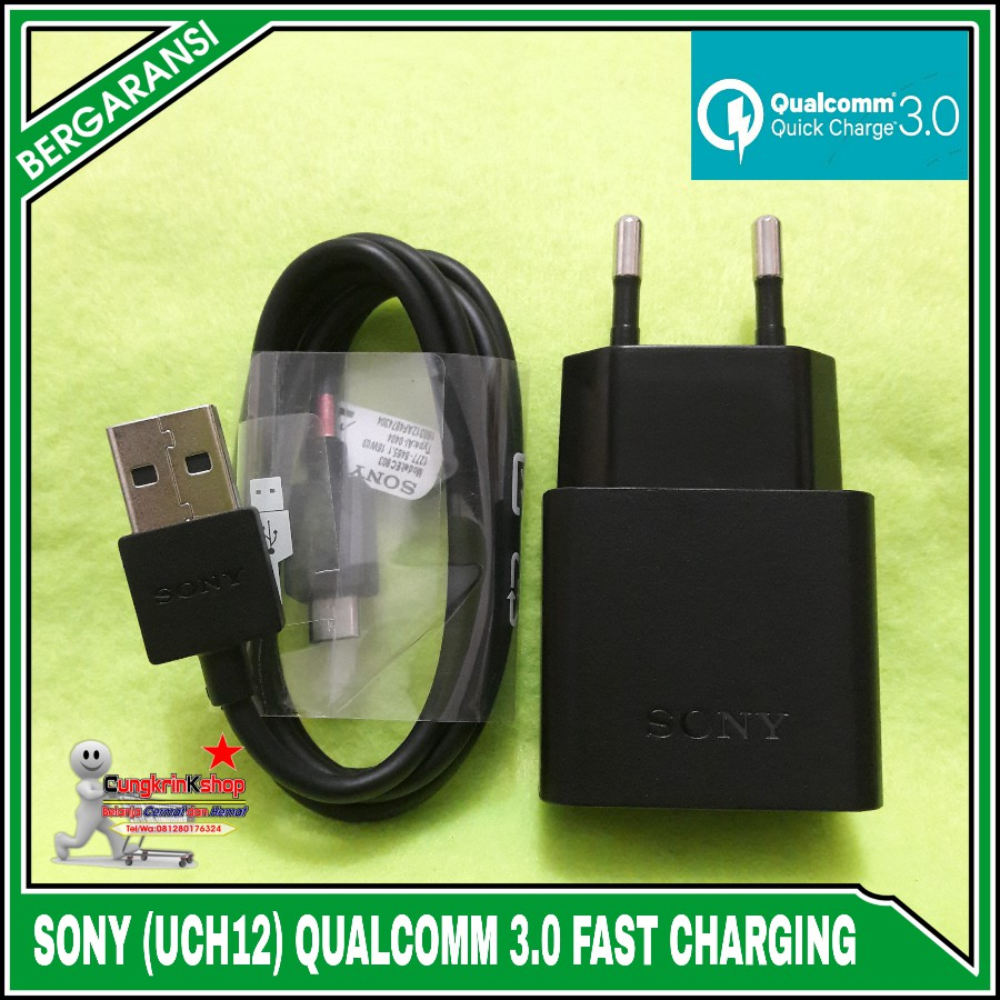 Charger Sony UCH12 Z1 Z2 Z3 Z4 Z5 ORIGINAL QUALCOMM QUICK CHARGER 3.0 | Shopee Indonesia