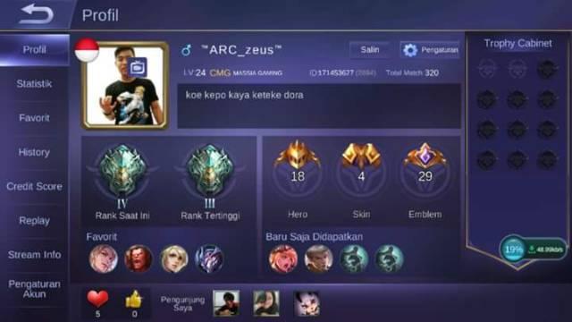 Akun Smurf Mobile Legend Epic Legend Mytic Murah Jual
