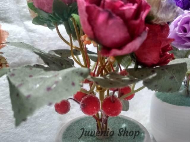 Set Pot Bunga Mawar Artifisial 9 Kelopak Tema Klasik Bunga Plastik Tanaman Hias Imitasi Shopee Indonesia