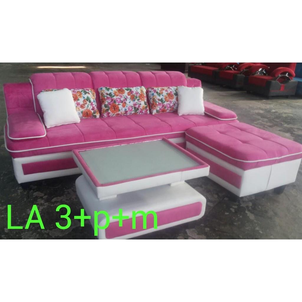 Sofa Ruang Tamu Minimalis Mewah Sofa L Plus Meja