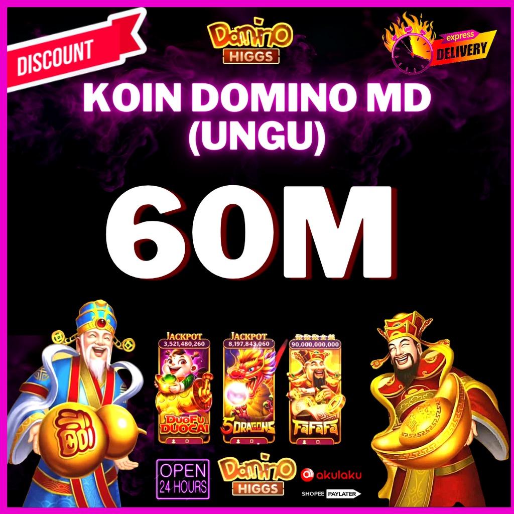 CHIP KOIN DOMINO HIGGS ECERAN 60M (MD/UNGU) TERMURAH OPEN 24 JAM