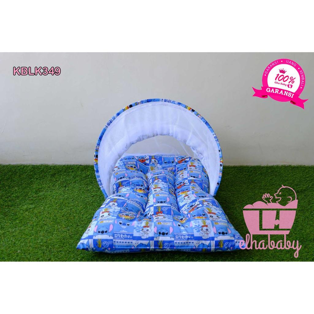 Kasur Bayi Kelambu Lipat Kblk349 Set Tempat Tidur Bayi Baru Lahir Shopee Indonesia