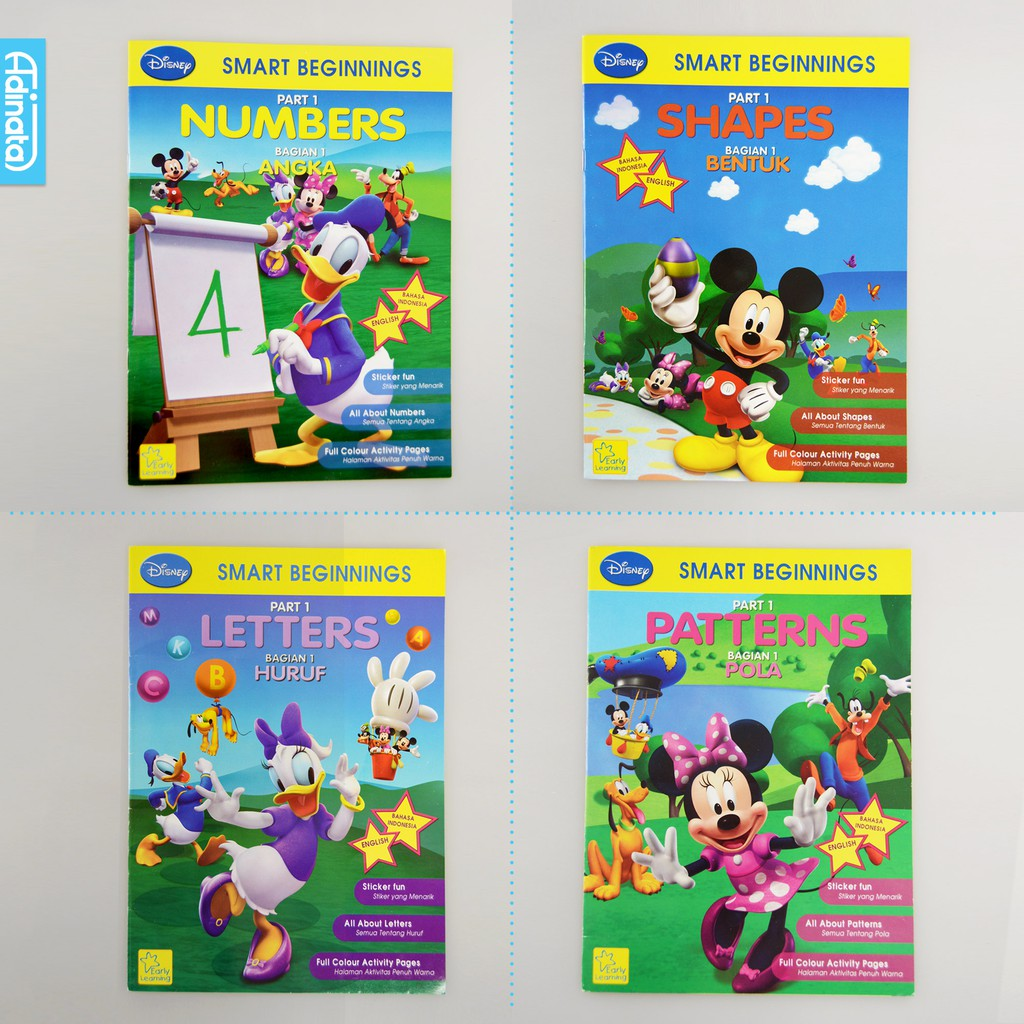 Buku Aktivitas Anak Disney Smart Beginning Activity Book Tk A B Adinata
