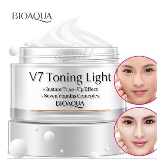 BIOAQUA V7 TONING LIGHT VITAMIN CREAM (TRANSLUCENT WHITE)
