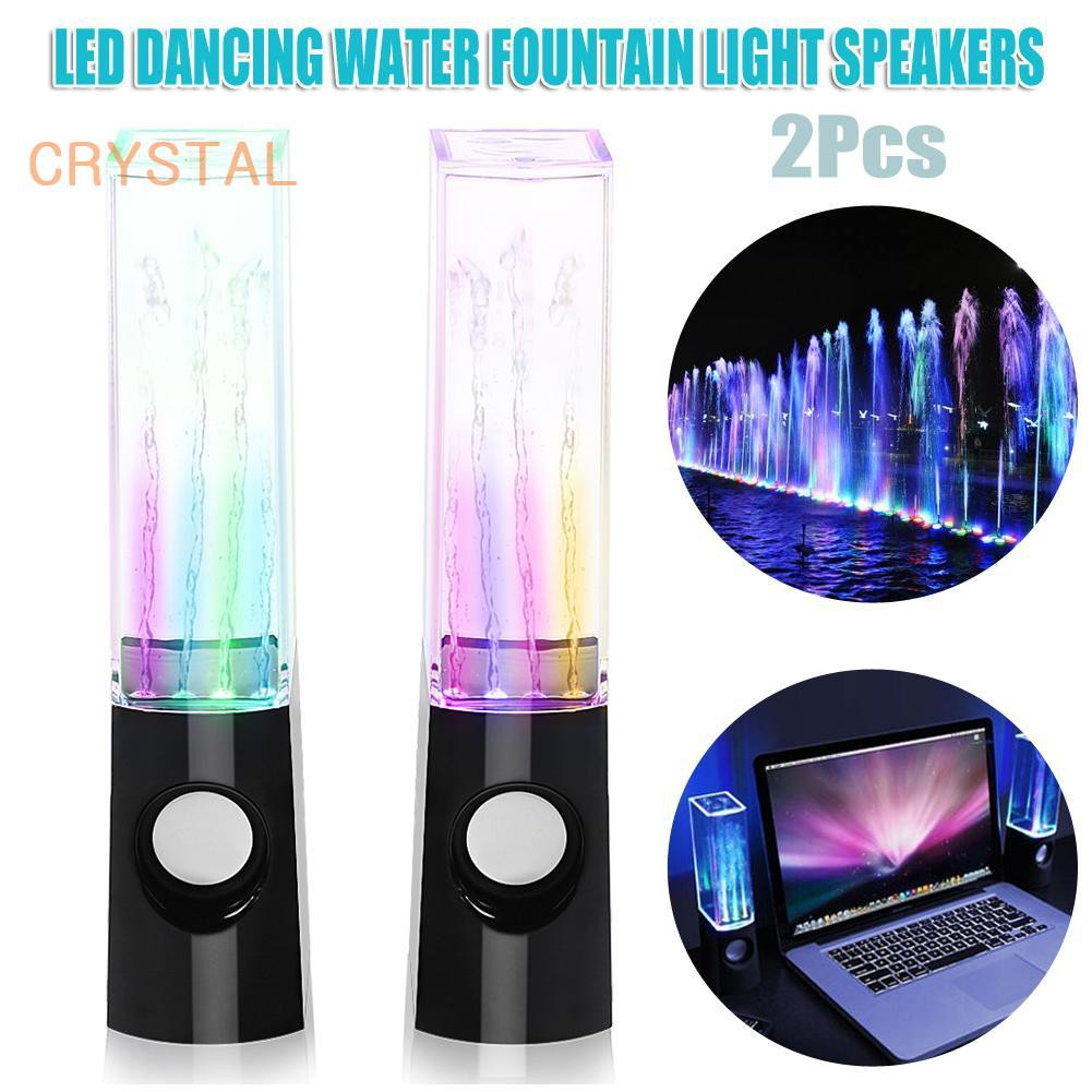 Mini Wireless Bluetooth Colorful LED Dancing Water Show Fountain Light Speaker