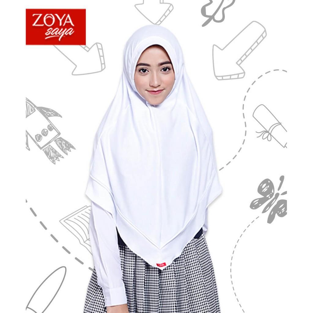 Kerudung Sekolah Zoya Prestasi / Jilbab Instant / Bergo Instant / Bergo  Sekolah