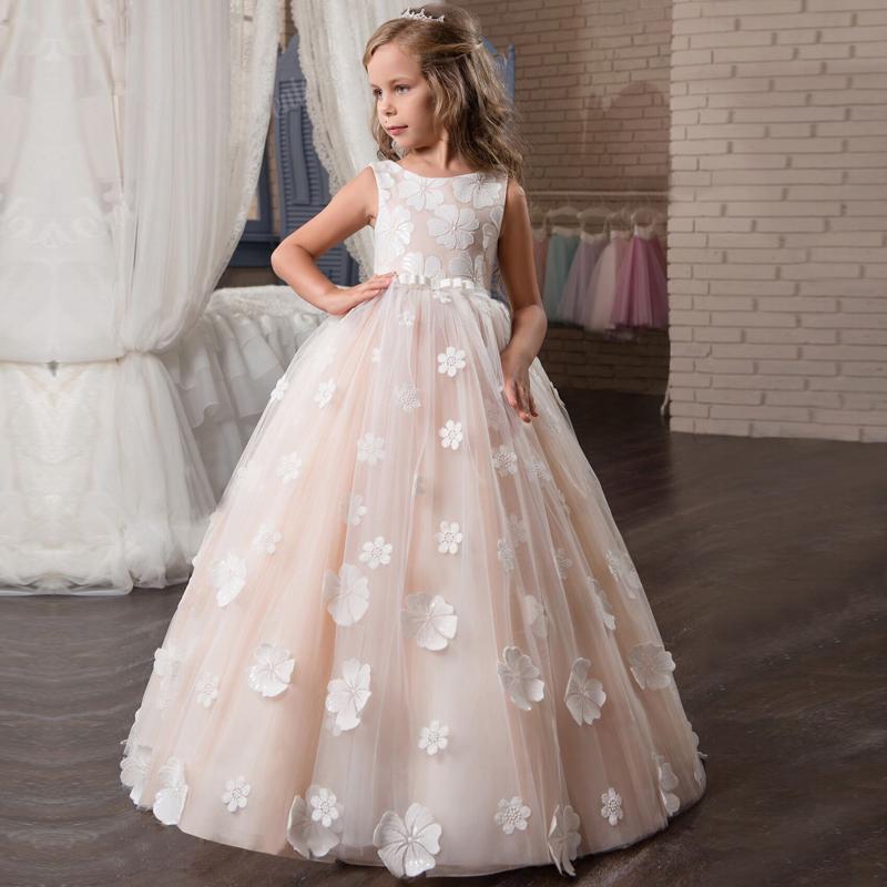 Gadis-bunga-putri-gaun-prom-panjang-kontes-pernikahan-
