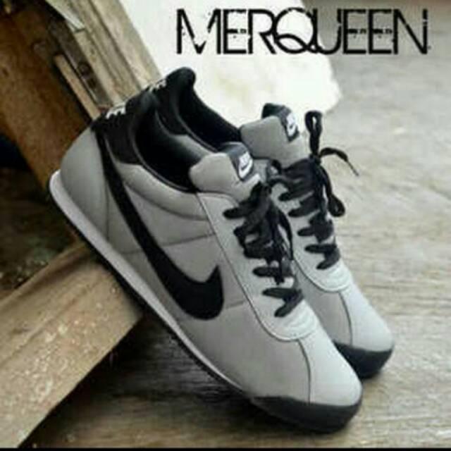 Sepatu nike merqueen abu hitam   sepatu nike pria terbaru  bb1e50b66c
