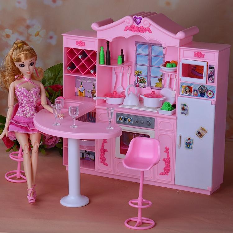 30cm Barbie Aksesoris Boneka Mengatur Pencahayaan Kabinet Dapur Restoran Furnitur Bermain Rumah Gadi Shopee Indonesia