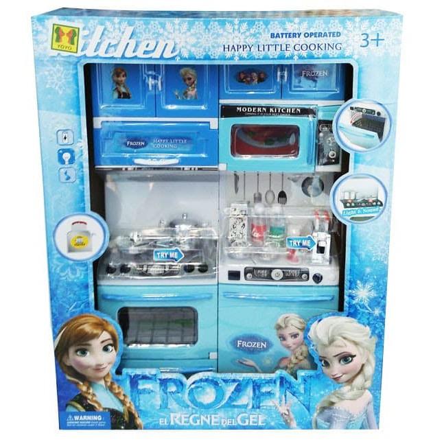 Mainan Anak Masak Masakan Modern Kitchen Set Frozen Perempuan 918 7f Shopee Indonesia