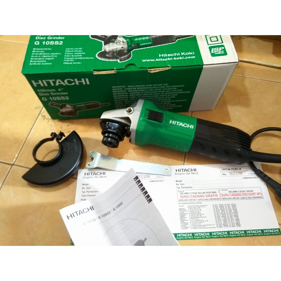 Mesin Gerinda Tangan Angle Grinder 4 Hitachi G10ss2 G 10ss2 Ryota 9500n Inchi Shopee Indonesia