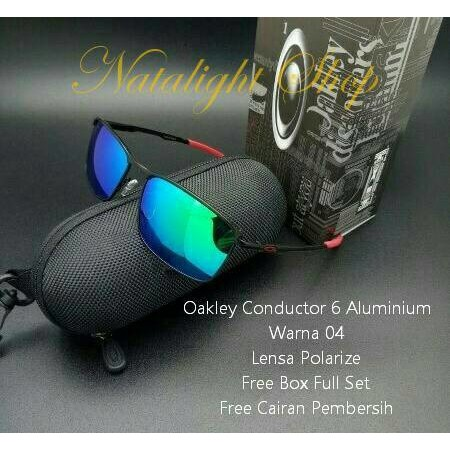 3b4c50551b Oakley Sunglasses Conductor 6 OO4106 - Matte Black (410601) Size 58 Black  Iridium