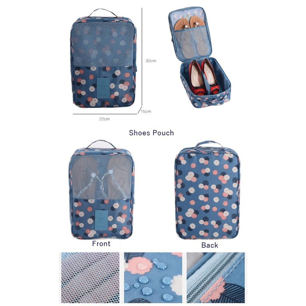 TN022 Tas Sepatu Sandal Motif Travel Shoes Bag Organizer Korean Pouch   Shopee Indonesia