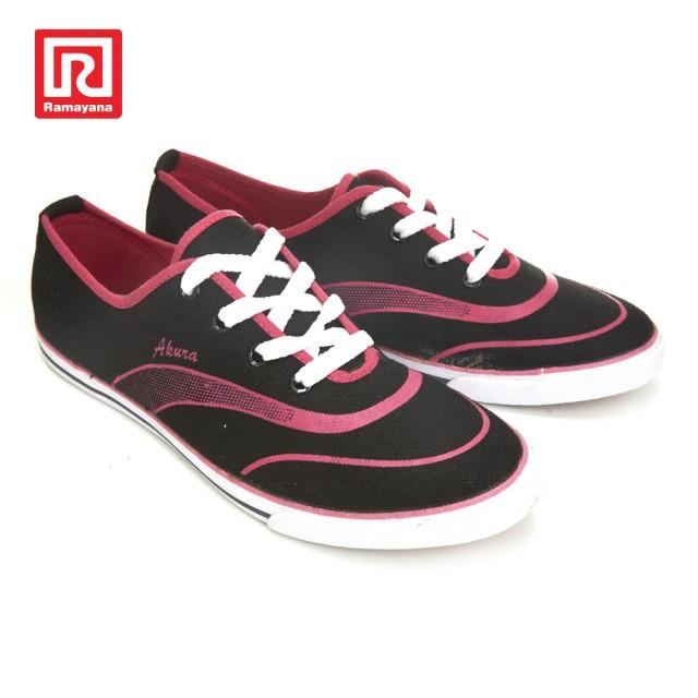 Ramayana - World Star Sepatu Sneaker Wanita Fresh Akura Black - Fushia  e265354561