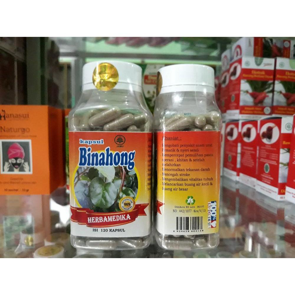 Kapsul Daun Binahong Isi 120 Obat Herbal Asam Urat Nyeri Green Coffee Herbamedika Sendi Rematik Pemulihan Pasca Opera Shopee Indonesia