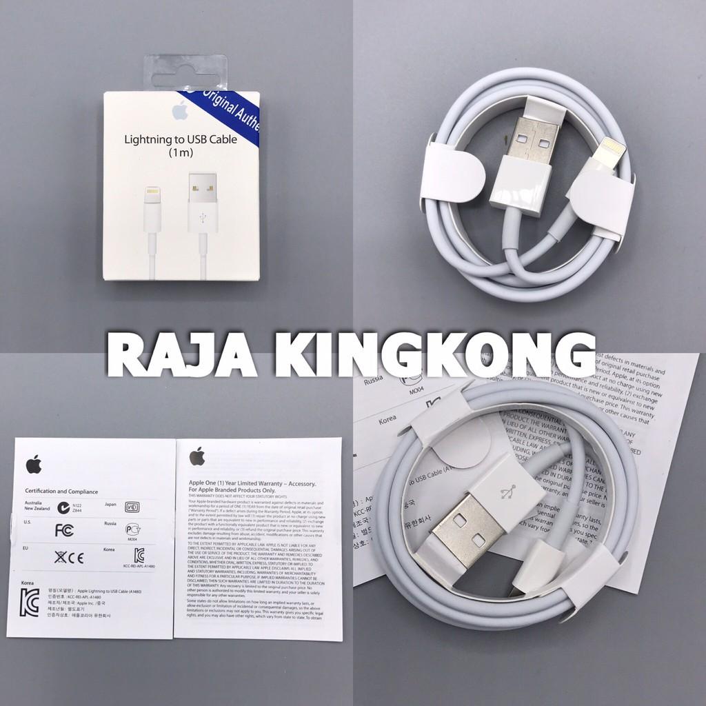 Kabel Iphone Lightning Cable 8 Pin 5 5s 6 6s 7 Ori Ubox Enzo Onetime Warranty Hitam Generation Garansi Shopee Indonesia