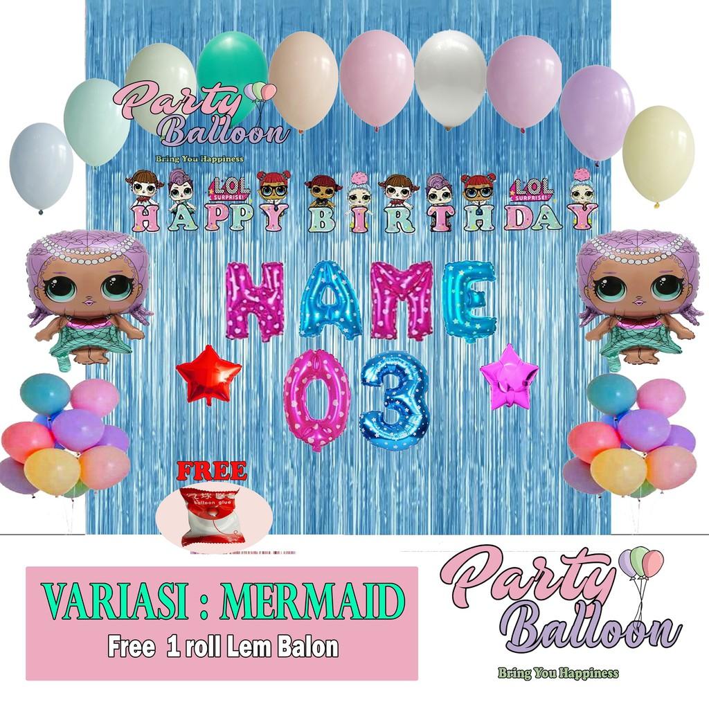 Paket Dekorasi Ulang Tahun Anak Murah Tema Lol Shopee Indonesia Tema ulang tahun anak