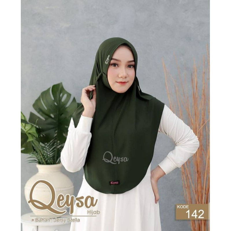 {Qeysa hijab} bergo mini pad ORI by qeysa hijab
