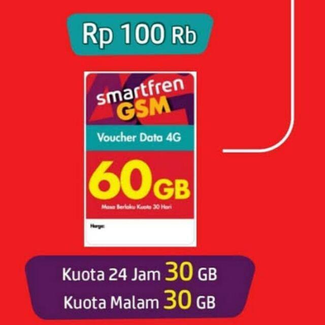 Voucher Smartfren Kuota 10gb 16gb 30gb 60gb Unlimited Shopee Indonesia