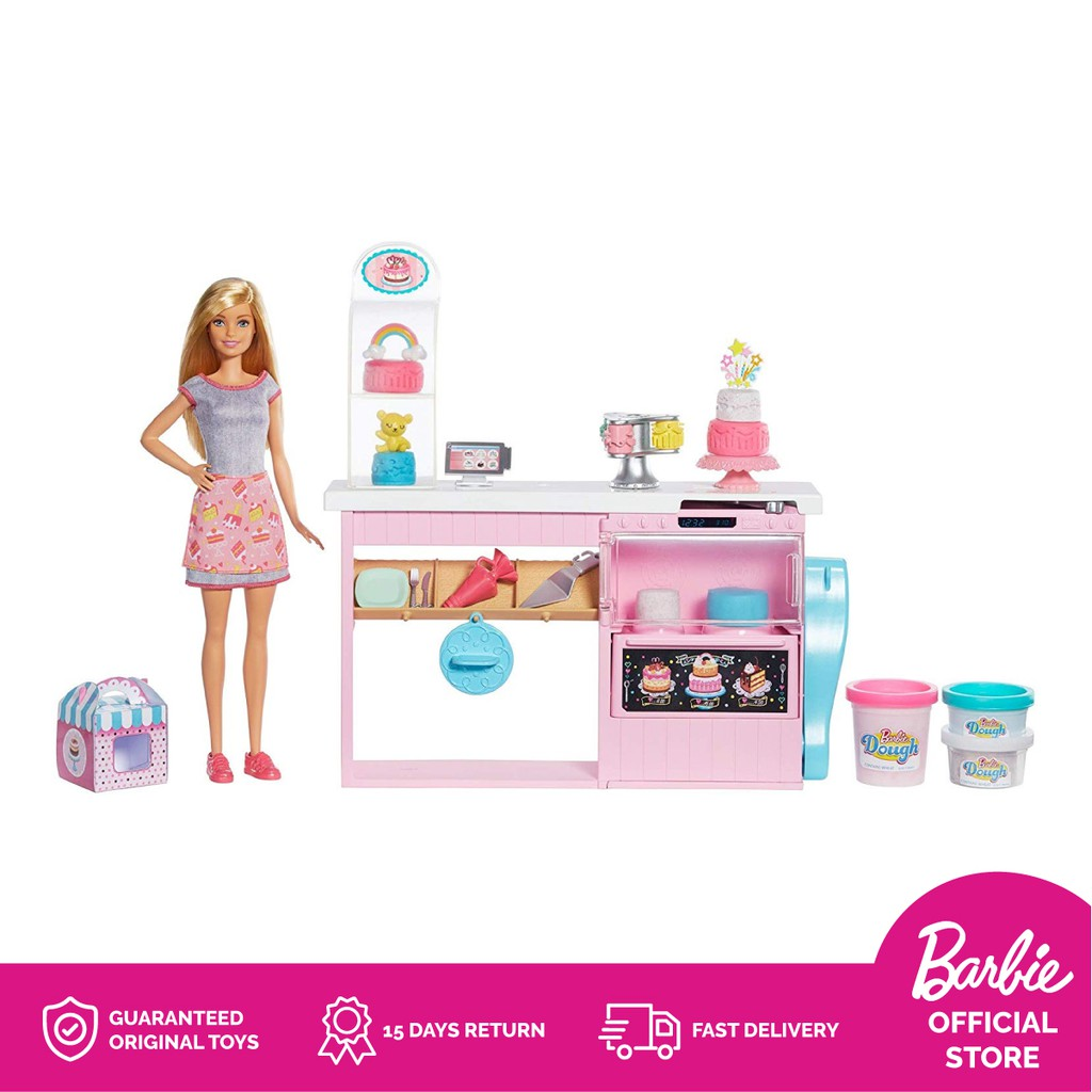 Barbie Cake Decorating Playset Mainan Aksesoris Boneka Anak Perempuan Shopee Indonesia