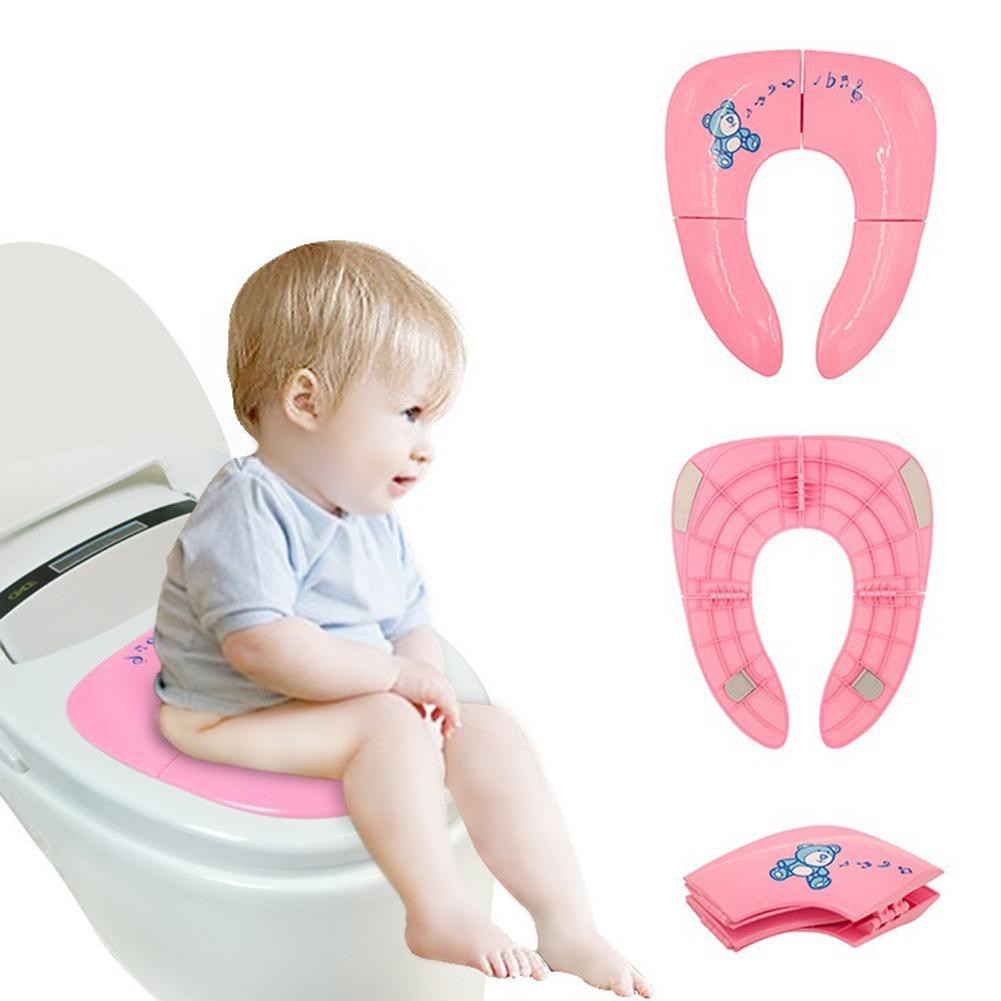 Kids Potty Training Toilet Seat Baby Toddler Safety Handles Soft Pad Mat Cushion