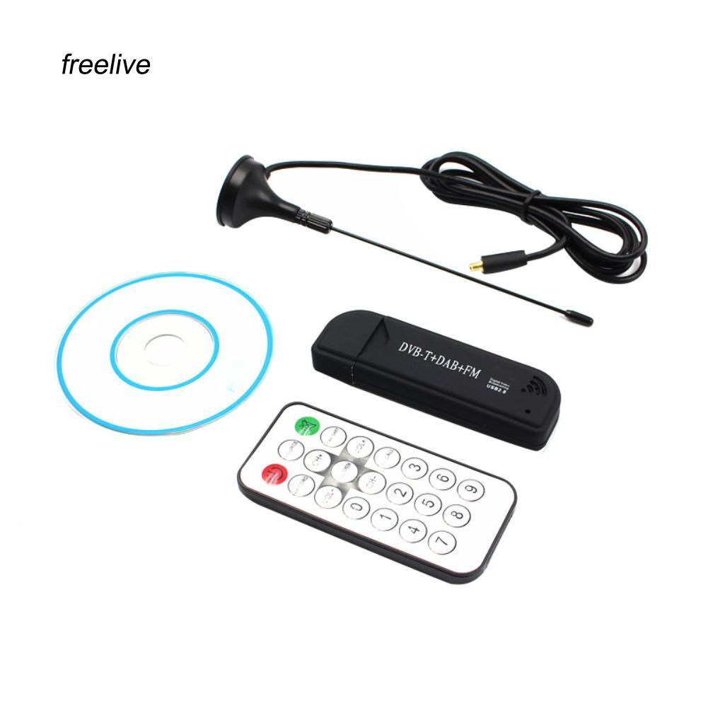 USB 2.0 Digital DVB-T /& Remote Control TV Tuner Receiver Stick Dongle FM for PC