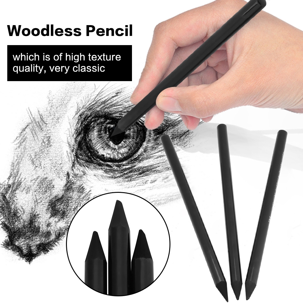 Charcoal woodless artist pencil drawing sketching painting