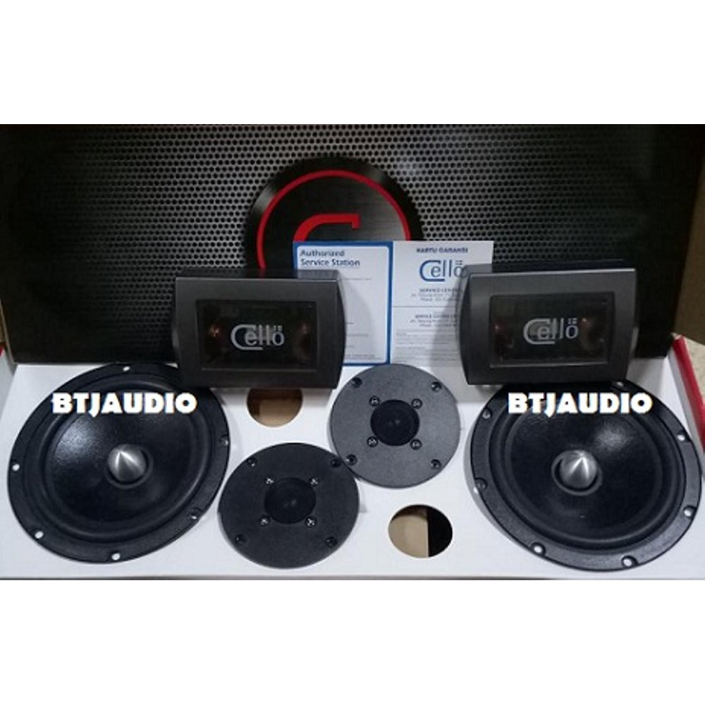 Peerless By Cello Tc4 2 Way 525 Components Split Speaker Set Slot5 With Power M12d Shopee Indonesia