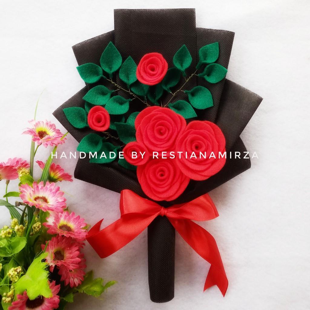 Buket Flanel Murah Buket Bunga Kado Ultah Wisuda Wedding Handmade