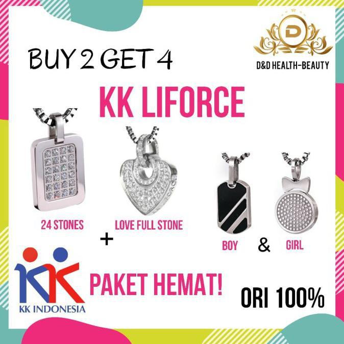 PROMO!! BUY 2 GET 4! KK LIFORCE Kalung Kesehatan / KK Indonesia, ORI