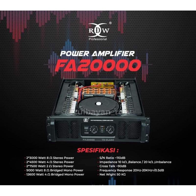 Power RDW FA20000 original class TD garansi resmi