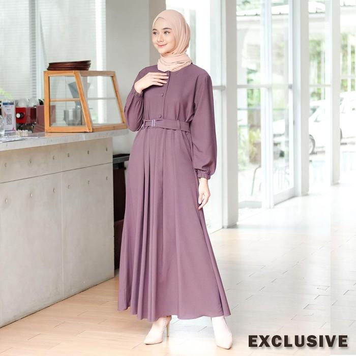 Gamis Nidia Full Kancing Busui Bumil Dress Moscrepe Shopee Indonesia