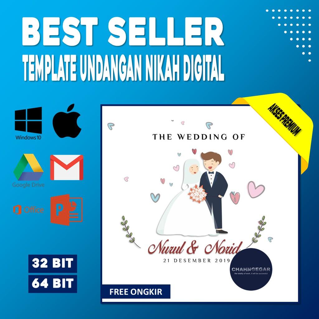 Template Undangan Pernikahan Digital Video Invitation Wedding Ms Power Point Ucapan Kado Souvenir Shopee Indonesia