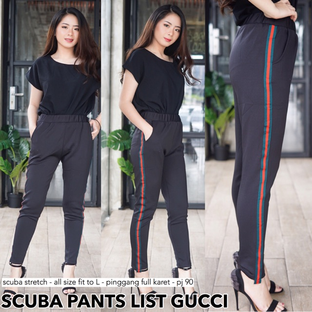 Lc Cod Scuba Pants List Guci Celana Legging Hitam Wanita Murah Shopee Indonesia