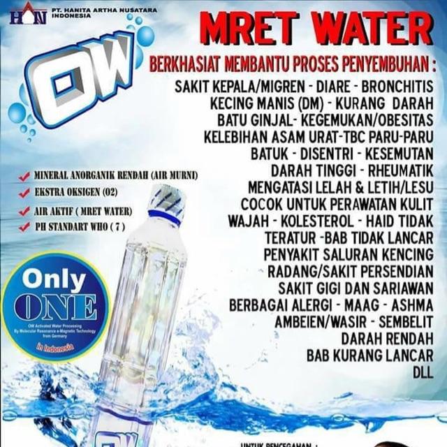 Ow Water Oxxywater Mret Water Air Minum Kesehatan Beroxygen Shopee Indonesia