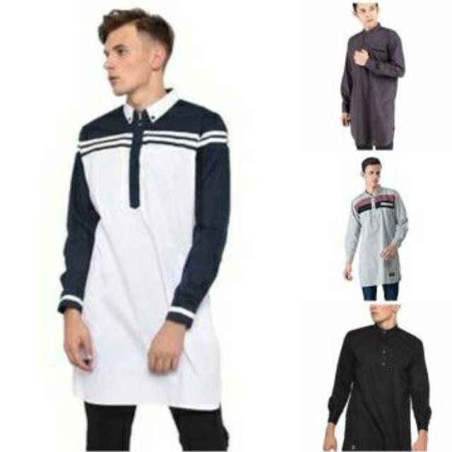 Pakaian Muslim Pria Mnc 975 Model Baju Koko Kurta Pakistan Simpel Polos Terbaru Harga Murah Shopee Indonesia
