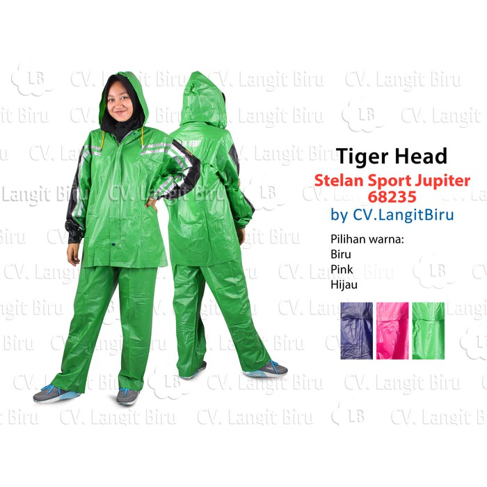 OmBotak Jas Hujan Ponco Big Top Milenium Tiger Head 68206 Raincoat Poncho | Shopee Indonesia