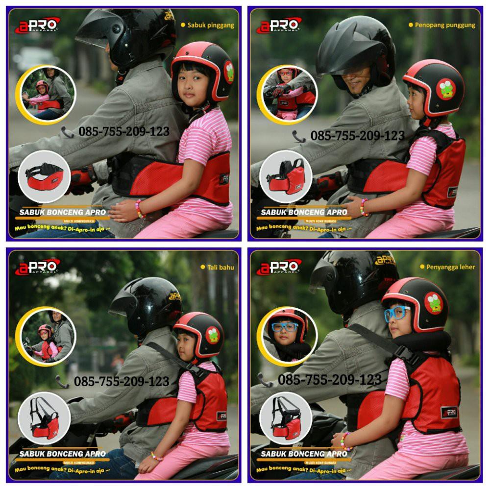 Sabuk Bonceng Motor Anak Safety Apro Multi Fungsi Merah Shopee New Multifungsi Boncengan Belt Indonesia