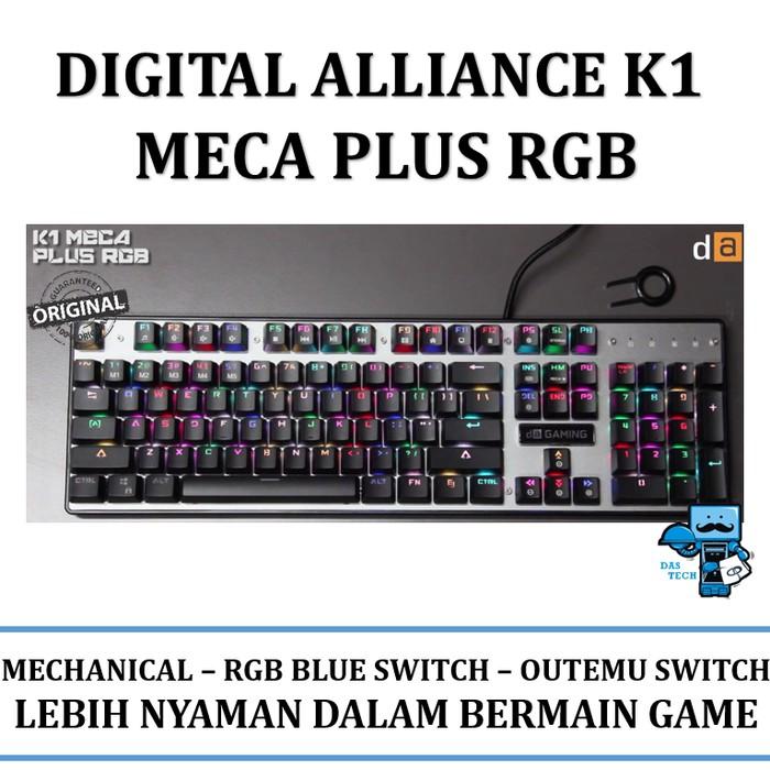 6100f1c7d68 Keyboard Mechanical Gaming Digital Alliance K1 Meca TKL RGB - Hitam |  Shopee Indonesia