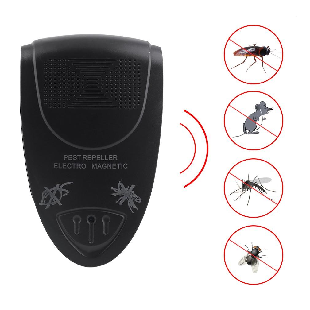 6 Watt Pembunuh Kecoa Tikus Elektronik Ultrasonik Repelle Cara Menangkap Nyamuk (biru + Putih)